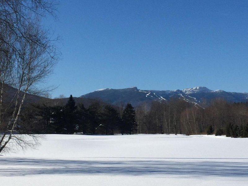 View of Stowe Mountain Resort from our back deck.