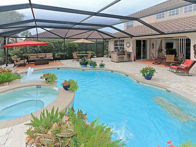 Beautiful, spacious, professionally decorated with  pool & spa home, alquiler de vacaciones en Ave Maria