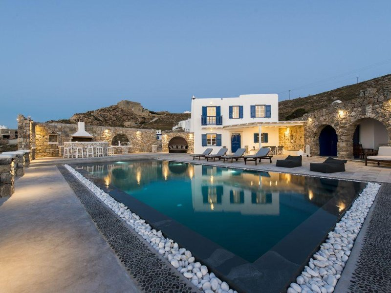 Villa In Mykonos With Magnificent Sea View And Sunset View, Ferienwohnung in Mykonos
