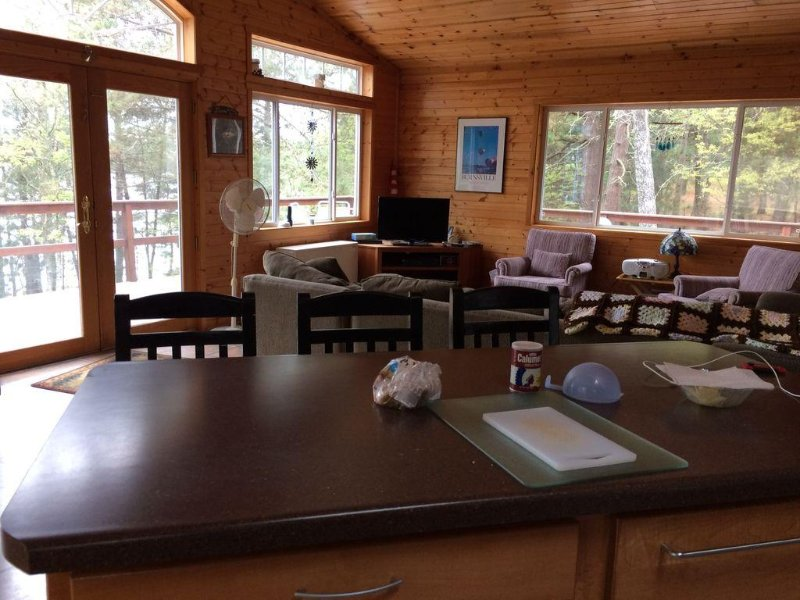 The Ultimate Family Lake Experience which includes 18' pontoon boat, holiday rental in Minong