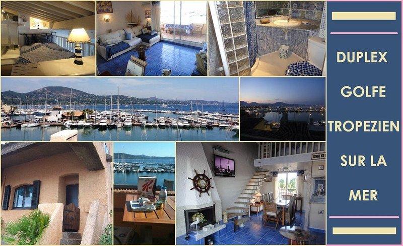 Duplex de luxe comme maison-dans golfe de saint tropez/Vue époustouflante golfe, location de vacances à Saint-Tropez