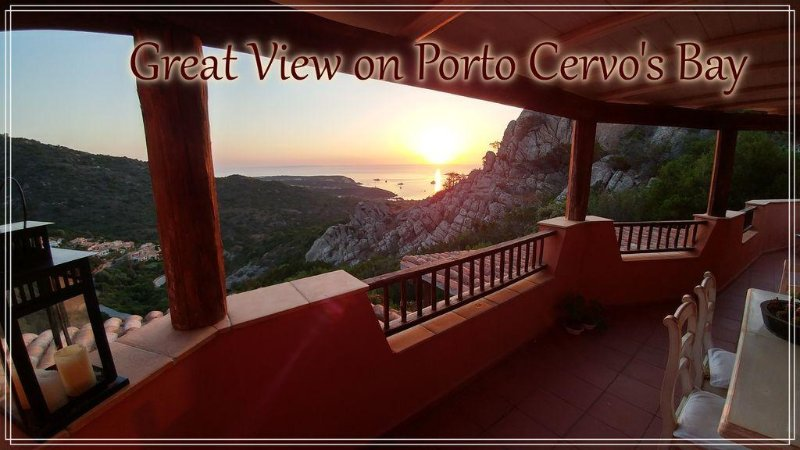 Sea View & Breathtaking Landscape at Charming Cosy House, Porto Cervo 2km, vacation rental in Arzachena