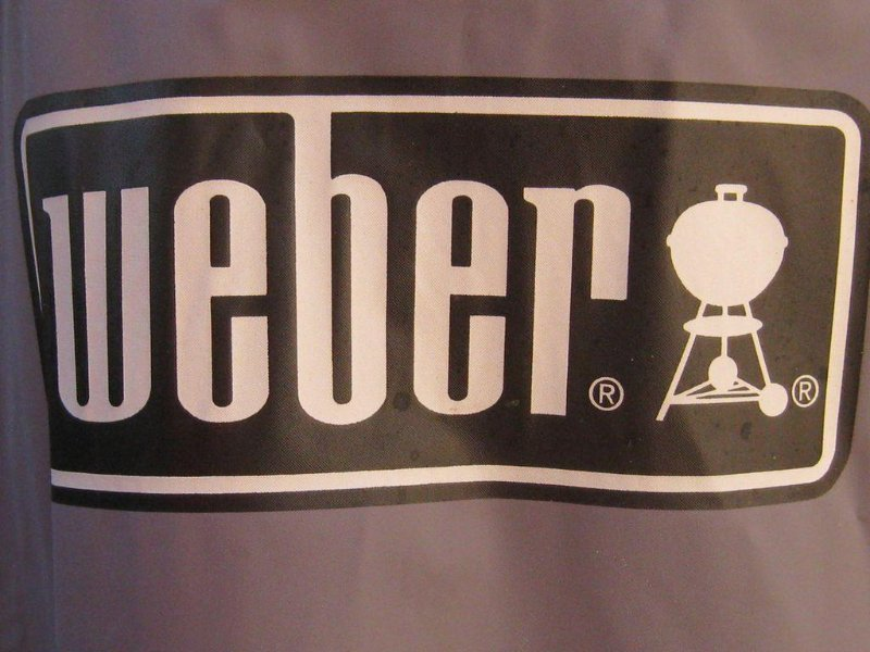 Weber barbecue available for use, includes utensils, briquettes, and matches.