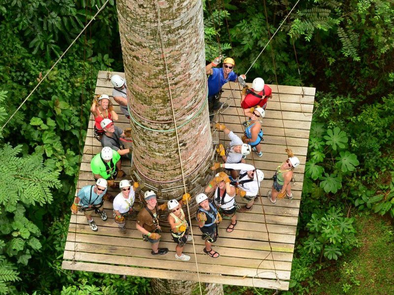 Canopy tours are definitely meant for the more adventurous tourists and who enjoys a adrenaline rush.
