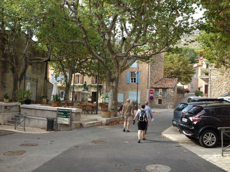 Puyloubier village square