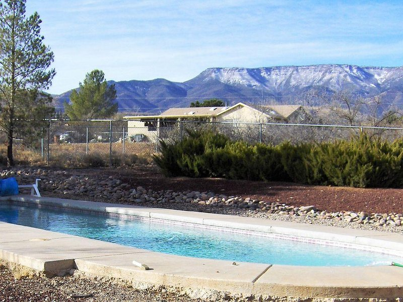 Pool with view of Mingus Mountain--home of famous Jerome.