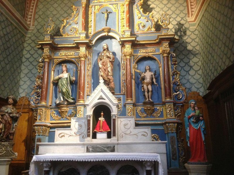 The beautiful alter of the church - village center