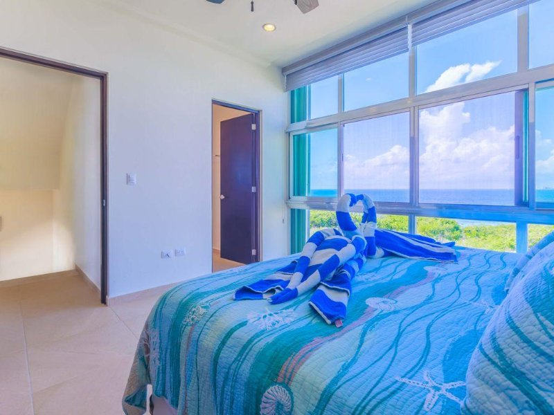 Spacious Master Suite has floor to ceiling views!