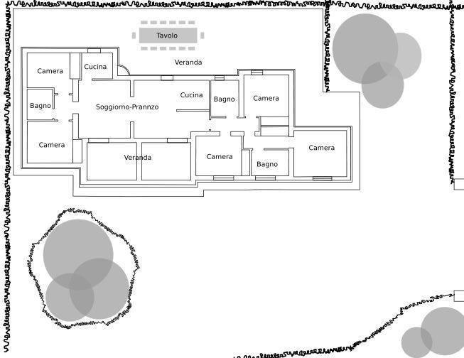 Property Layout/Pianta -5 bedrooms/camera, 3 baths/bagno, live-dine/sogg.-pranzo