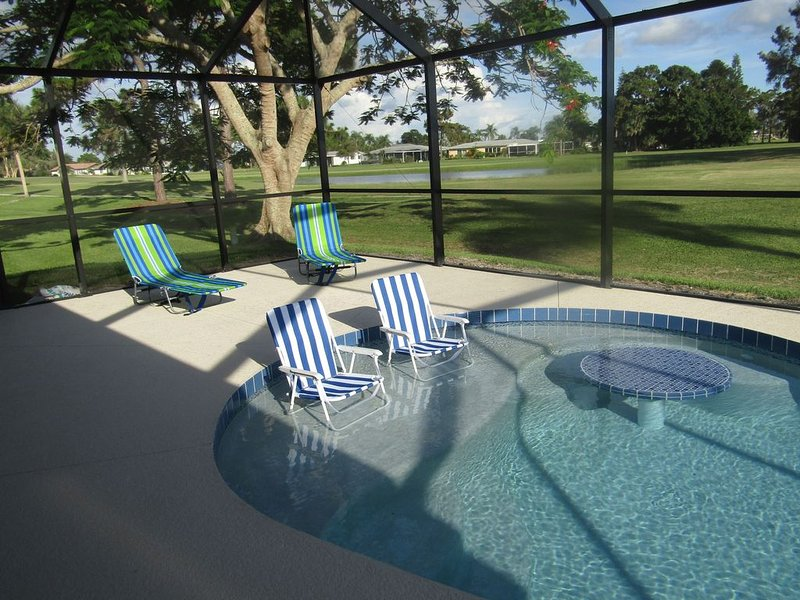 Swimming pool & golf course view