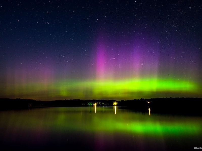 View of Northern Lights from our shoreline-courtesy of lhartphotography