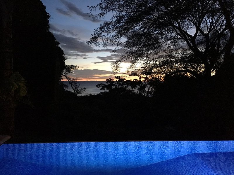 Infinity pool is lovely at sunset