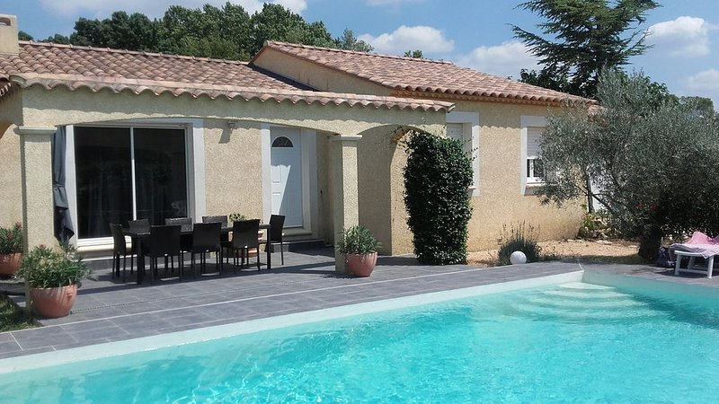 Provencal house with garden, pool and petanque, holiday rental in Dions