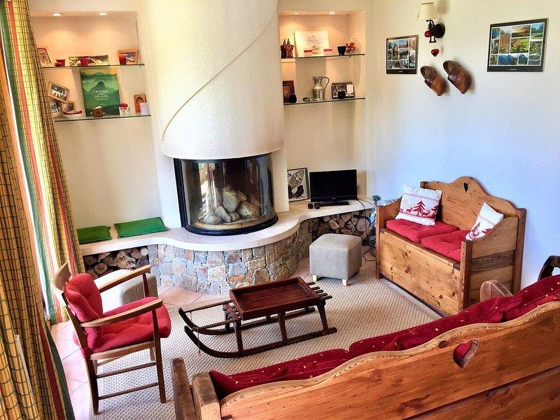 Appartement standing de 50 m2 avec terrasse - proximité des remontées, location de vacances à Samoëns