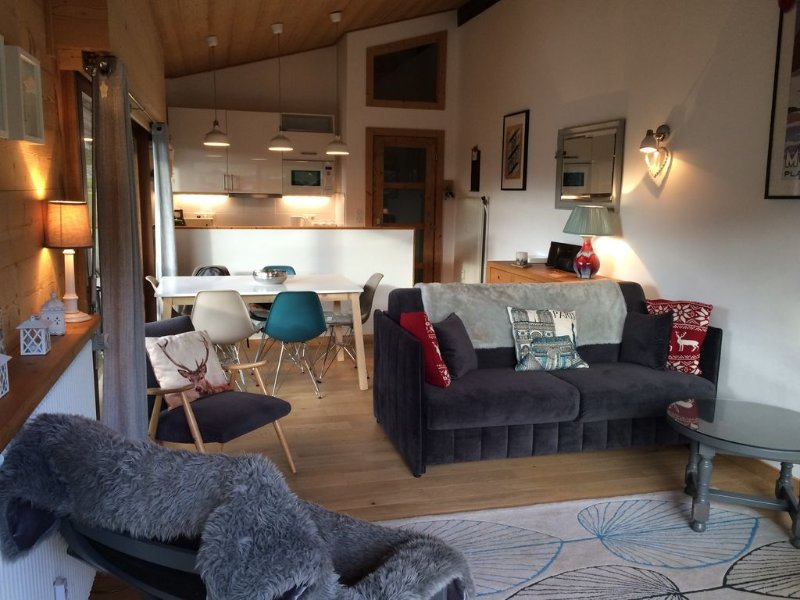 Luxury Apartment Sleeps 6. 350 m to ski lifts & town. Great views, Highly rated., vacation rental in Morzine