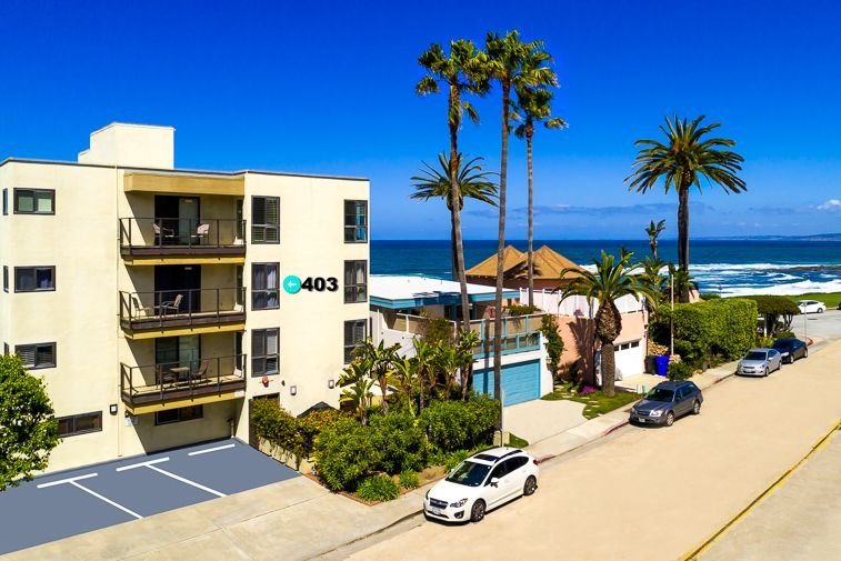 Charm your way down to the ocean.  Beautiful condo just steps from the ocean.