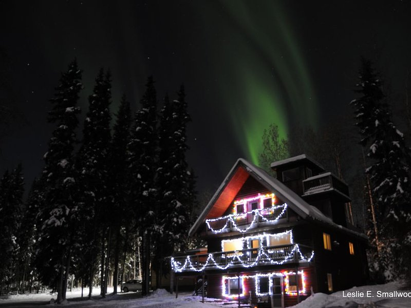 Winter view or auroras right over the house!