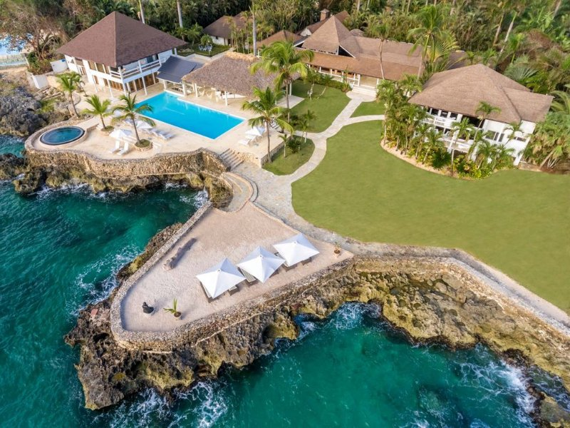 Fully walled and gaited compound within the resort of Casa de Campo.
