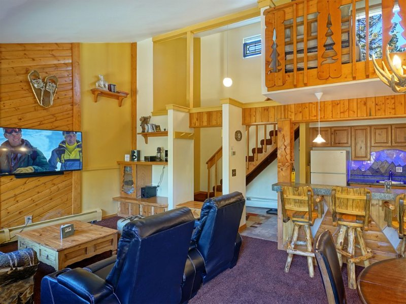 Easy Walk to Ski Lifts and Downtown Breckenridge -Lg Loft Unit, vacation rental in Breckenridge