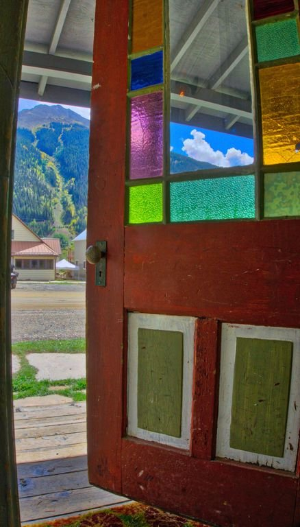 Walking out  the front door toward Kendall Mountain