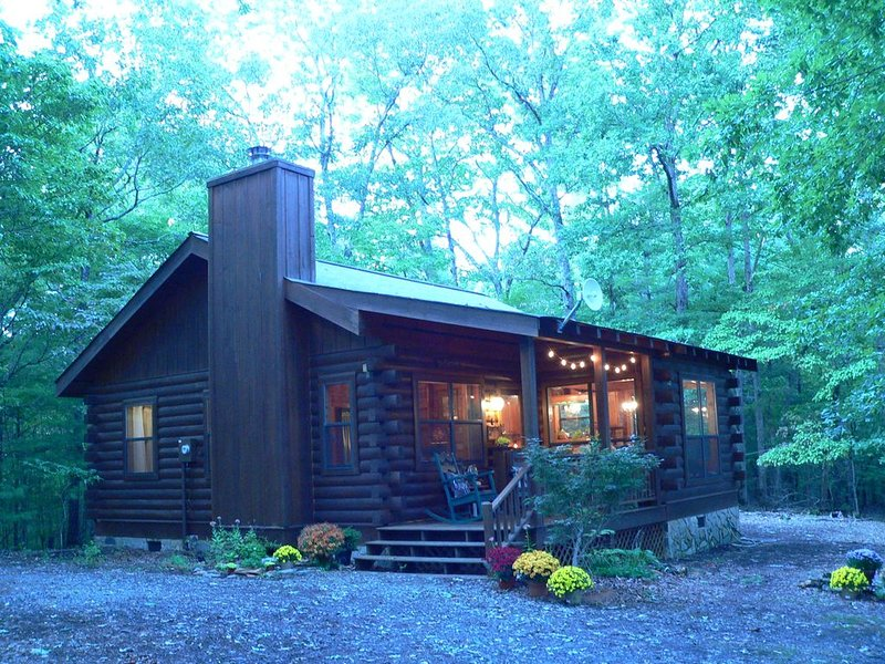 The Rivercane Cabin - Cozy, private, view, 1 mile to John C Campbell Folkschool, holiday rental in Brasstown