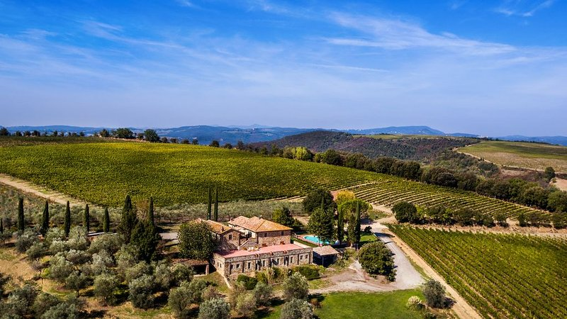 Charming farmhouse with swimming pool amongst Brunello vineyards, vacation rental in Montalcino