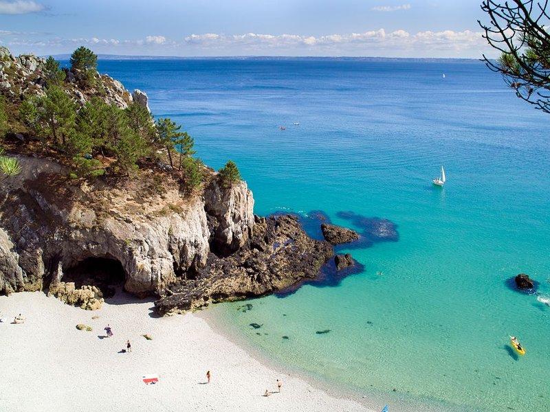 PRESQU'ILE DE CROZON Maison avec vue exceptionnelle sur la mer, location de vacances à Saint-Nic