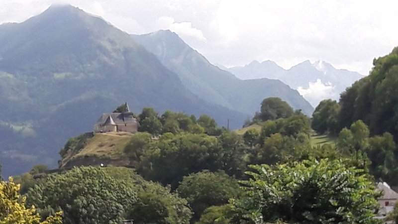 From a restaurant terrace, south of Lourdes