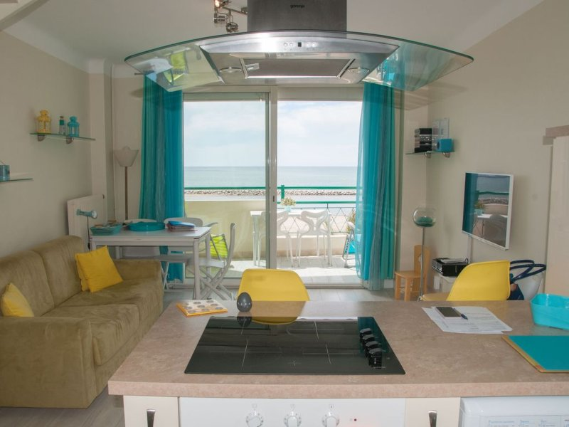 APPT.  T3 DUPLEX SEA FRONT LEFT BANK A MAGNIFICENT VIEW OF THE SEA 180, vacation rental in Le Grau-du-Roi