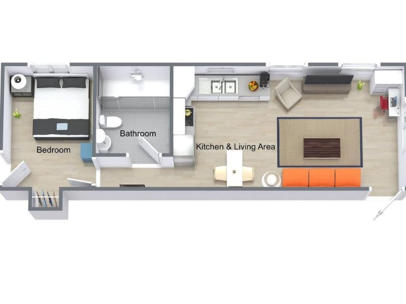 basic floor plan of the apartment *please note the furniture is not exactly the same* but this is more or less the layout