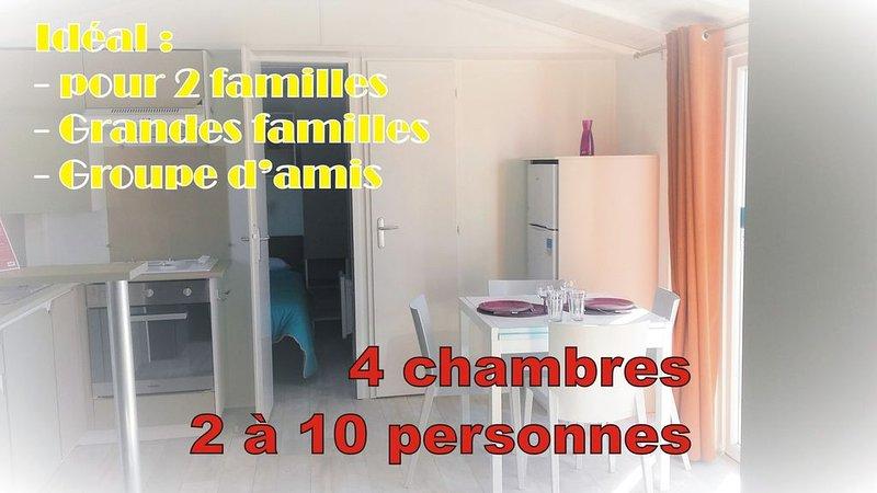 Entre plage & nature - Mobil-Home 2 à 10 personnes dans 1 camping 4 étoiles, vacation rental in Gastes