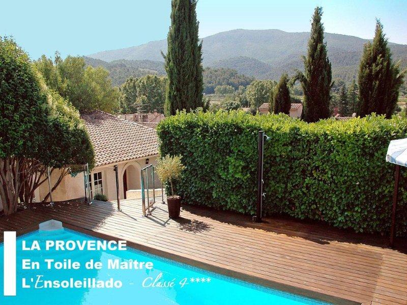 Découvrez la PROVENCE en Maison de CHARME 4*, Piscine, Sauna, VUE Sainte Baume, holiday rental in Plan-d'Aups-Sainte-Baume