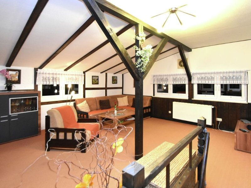 Gorgeous bright holiday house in the Harz with terrace and panoramic view, vacation rental in Rubeland
