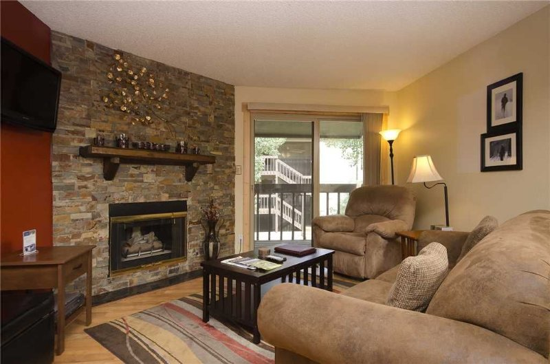 Nicely Updated with Private Deck, Free Bus Route!, aluguéis de temporada em Steamboat Springs