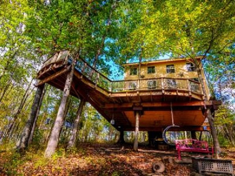 Stay in Tree House built by TreeHouse Master Pete Nelson ~ off the grid, holiday rental in Ripley
