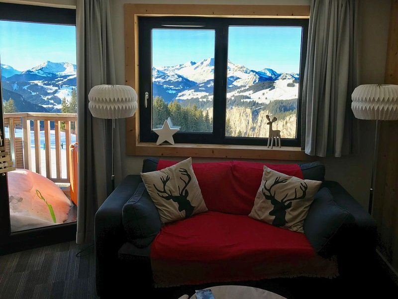Avoriaz, lovely apartment for 4/6 people with a beautiful mountain view, vacation rental in Morzine