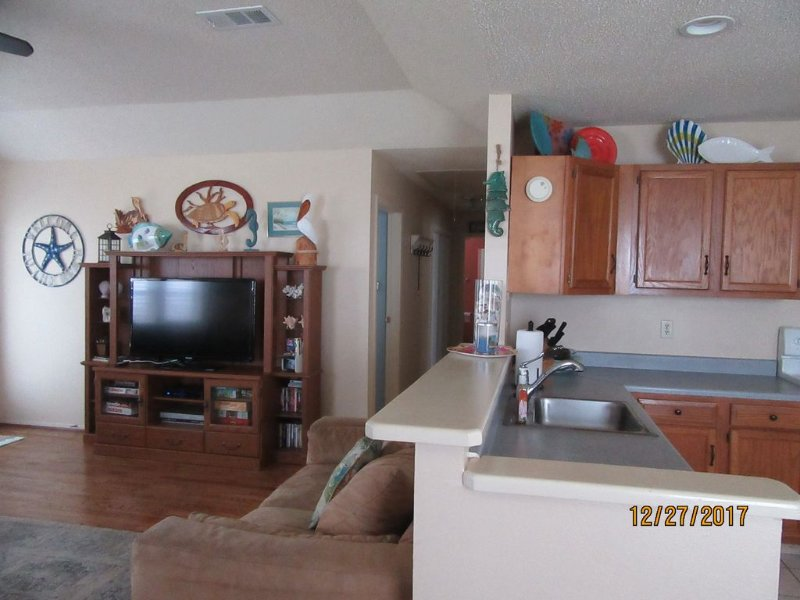 Open concept Living room and Kitchen