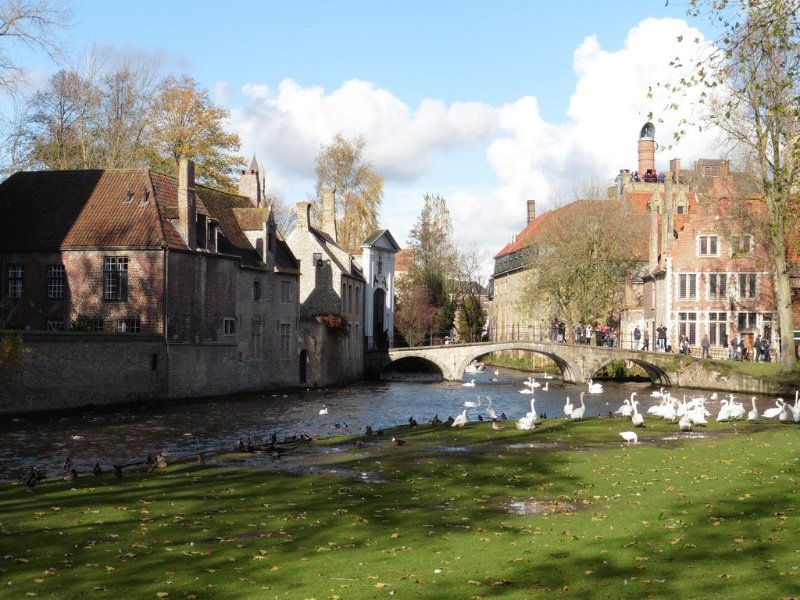 Brujas: vue sur 'Begijnhof'