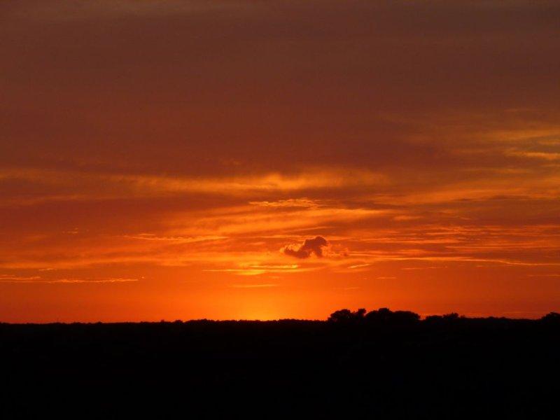 Sunset de balcón exterior segundo bebroom