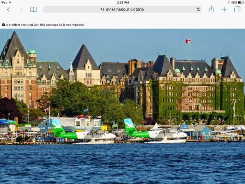 Fairmount Empress Hotel on the waterfront in Victoria.