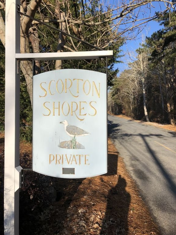 Our house is in the private beach community of Scorton Shores, East Sandwich, MA