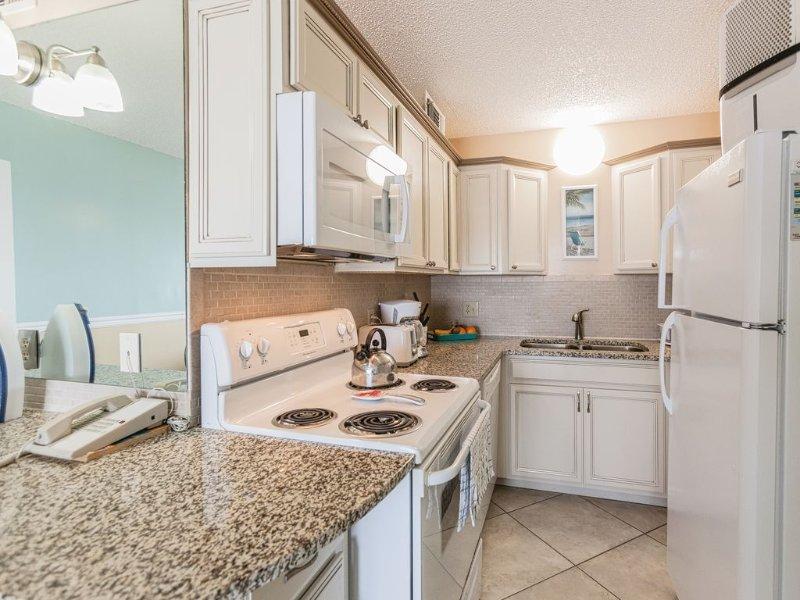 Brand new kitchen with granite countertop