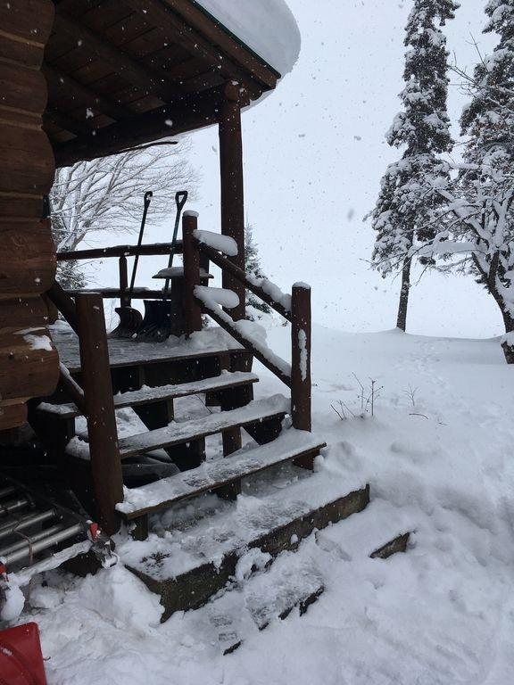 Terrasse couverte en hiver