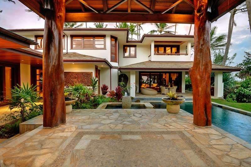 Hale Koa - Luxury home w/AC, Pool, Beachfront, alquiler de vacaciones en Laie