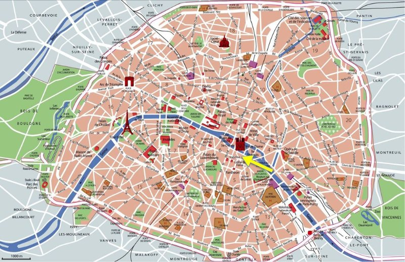 On this map you can see just how centrally located you'll be!