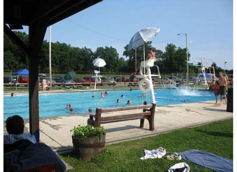 The community pool in Rhinebeck.
