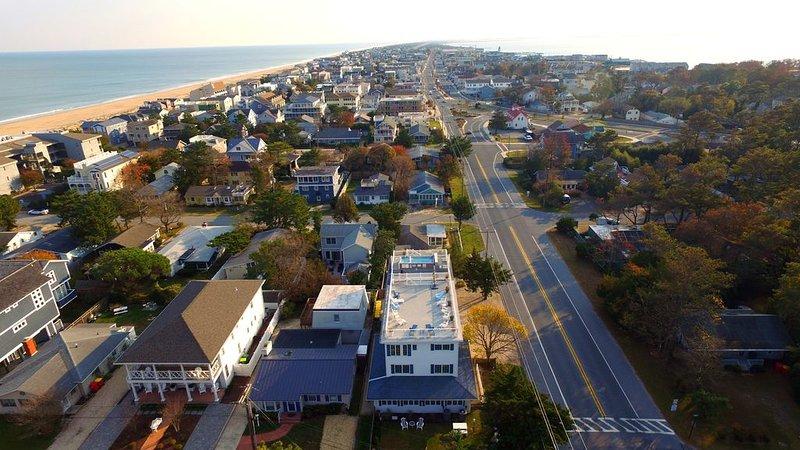 Otra vista aérea de las memorias Villa orientada al sur.