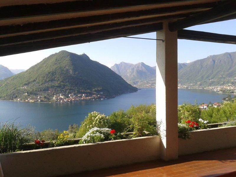 Villa privative vue imprenable sur lac Iseo - Sulzano, holiday rental in Peschiera Maraglio