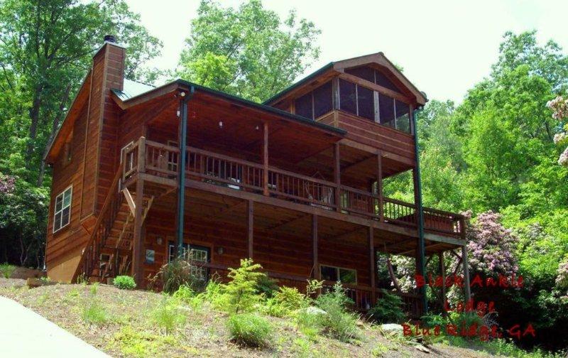 Mountain View Secluded,Hot Tub, WIFI,Paved Drive, Aska Aventure, Lake Blue Ridge, location de vacances à Cherrylog