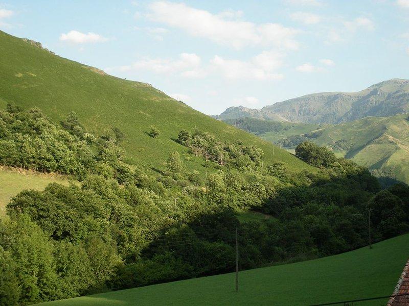 Nice flat floor large terrace panoramic mountain views Basque, location de vacances à Gaindola